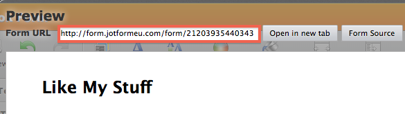 get full URL of your form
