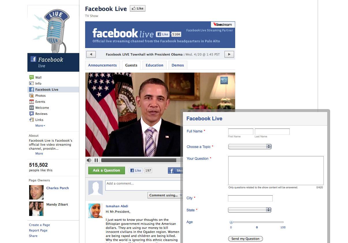 President Obama on FB Live